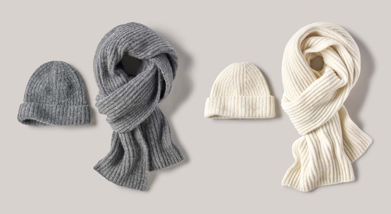 BUCK-MASON-Editorial-Damion-Lloyd-Photography-Laydown-Commercial-Apparel-Product-Clothing-Art-Directed-Los-Angeles-Orange-County-grey-cream-scarf-beanie-knit