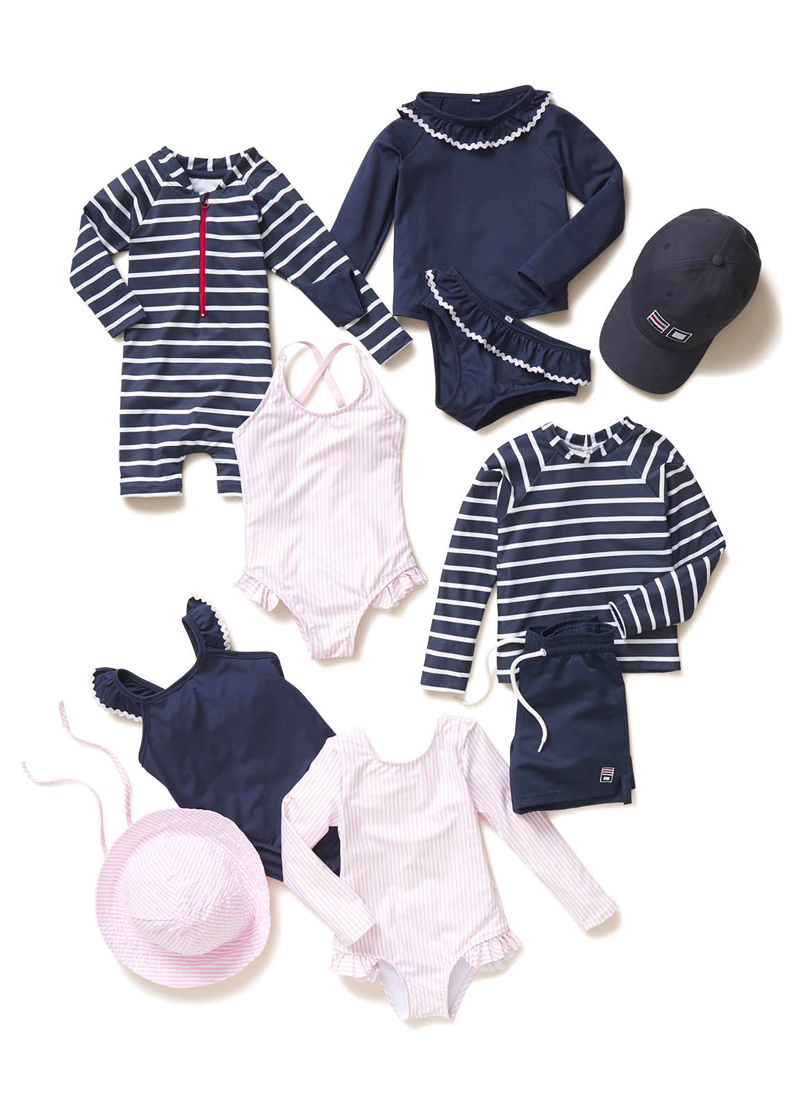 Classic-Prep-Children-Editorial-Damion-Lloyd-Photography-Laydown-Commercial-Apparel-Product-Clothing-Art-Directed-Los-Angeles-Orange-County-pink-stripes