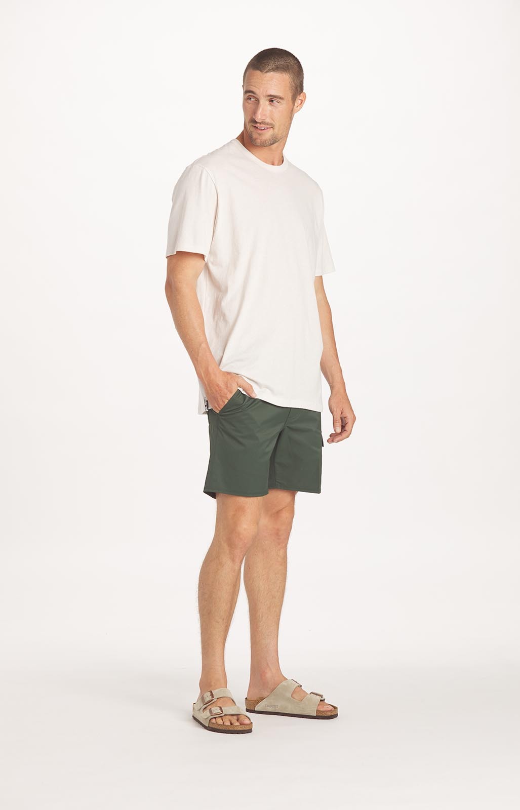 Model-Onmodel-in-studio-instudio-Damion-Lloyd-Photography-Commercial-Product-Apparel-Clothing-Los-Angeles-Orange-County-female-male-man-woman-PAKA-Apparel-tan-green-short