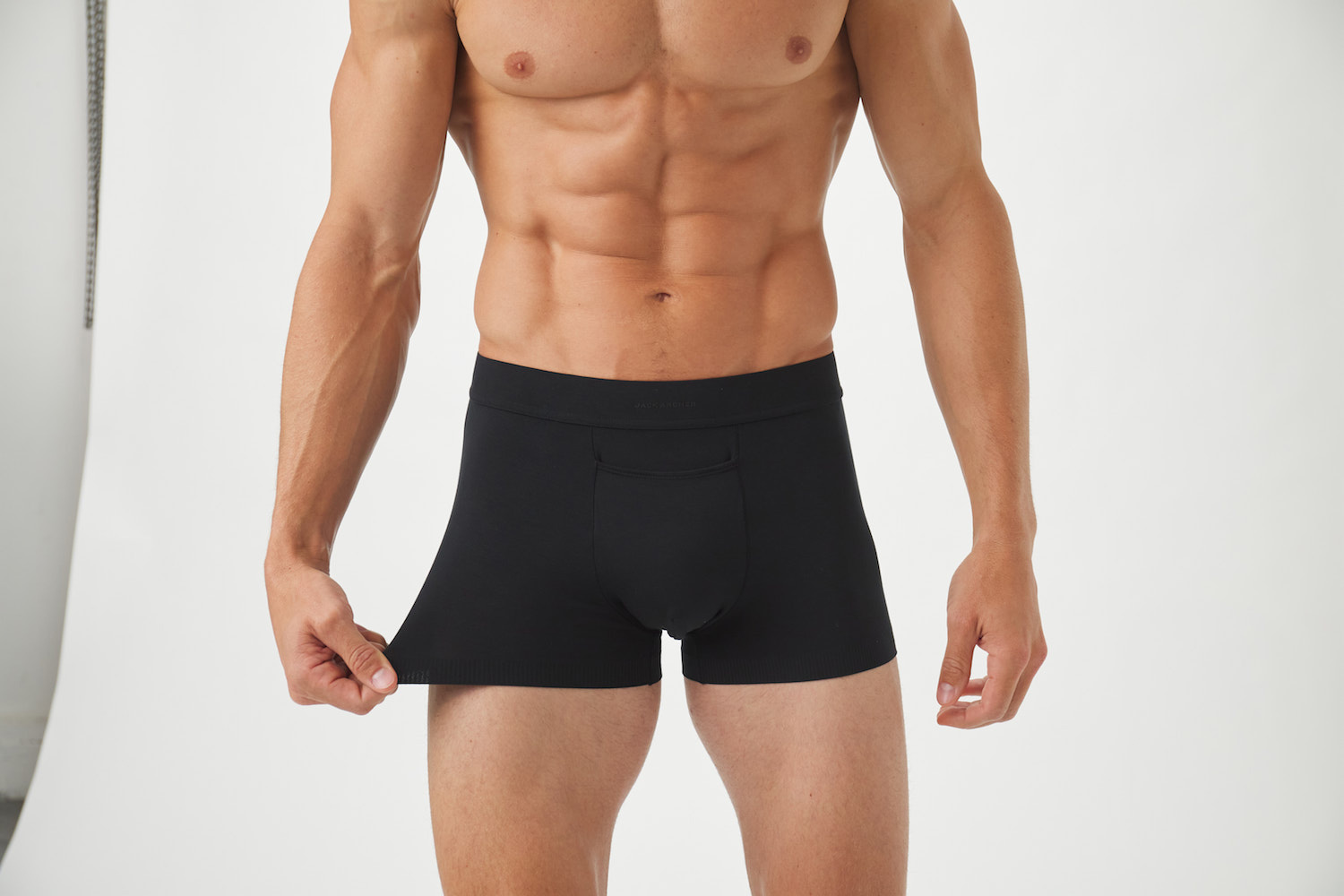 Model-Onmodel-in-studio-instudio-Damion-Lloyd-Photography-Commercial-Product-Apparel-Clothing-Los-Angeles-Orange-County-male-man-Jack-Archer-close-up-black-boxer-brief