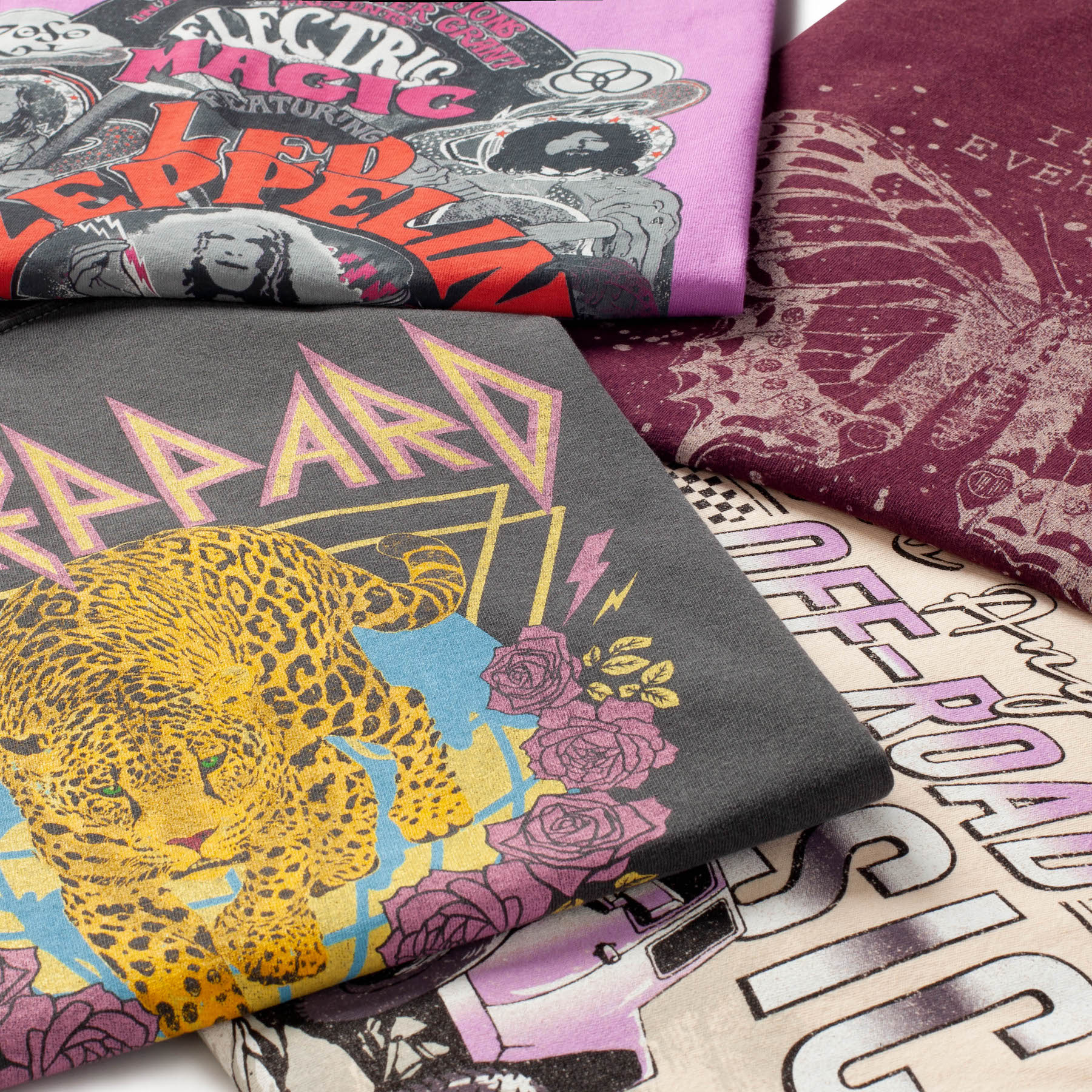 TILLYS-Editorial-Damion-Lloyd-Photography-Laydown-Commercial-Apparel-Product-Clothing-Art-Directed-Los-Angeles-Orange-County-def-leppard-shirts