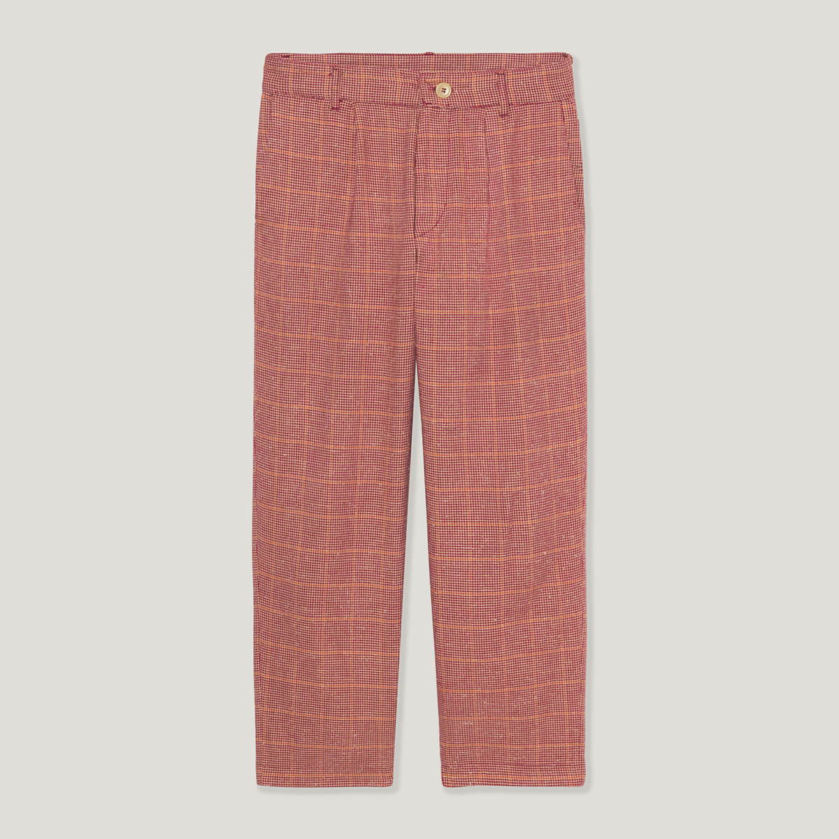 Pinwall-Pin-Wall-Flat-Lay-Damion-Lloyd-Photography-Commercial-Product-Laydown-Apparel-Clothing-Los-Angeles-Orange-County-YONY-plaid-checkers-red-pants