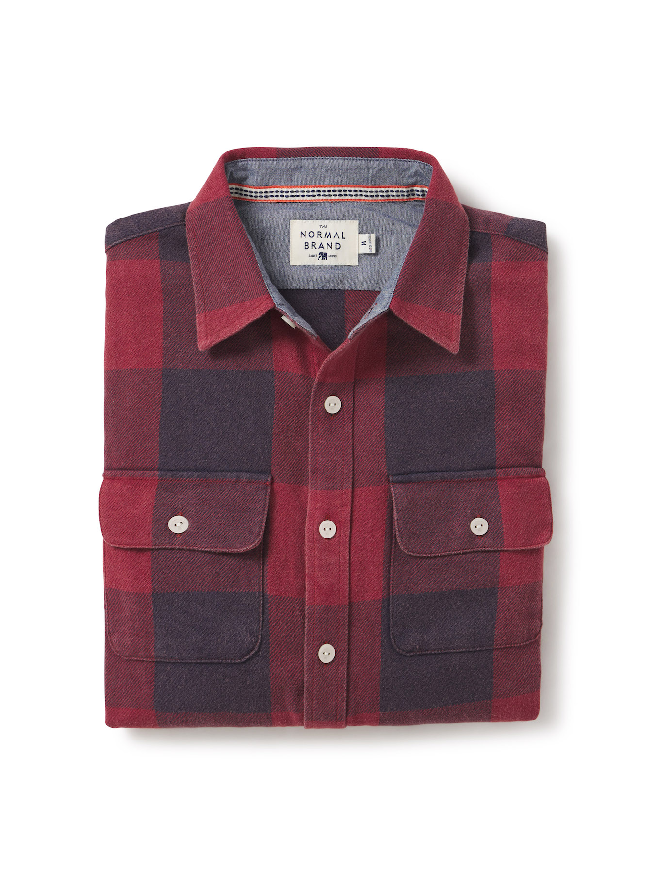 The-Normal-Brand-Table-Flat-Lay-Damion-Lloyd-Photography-Commercial-Product-Laydown-Apparel-Clothing-Los-Angeles-Orange-County-plaid-fold-shirt