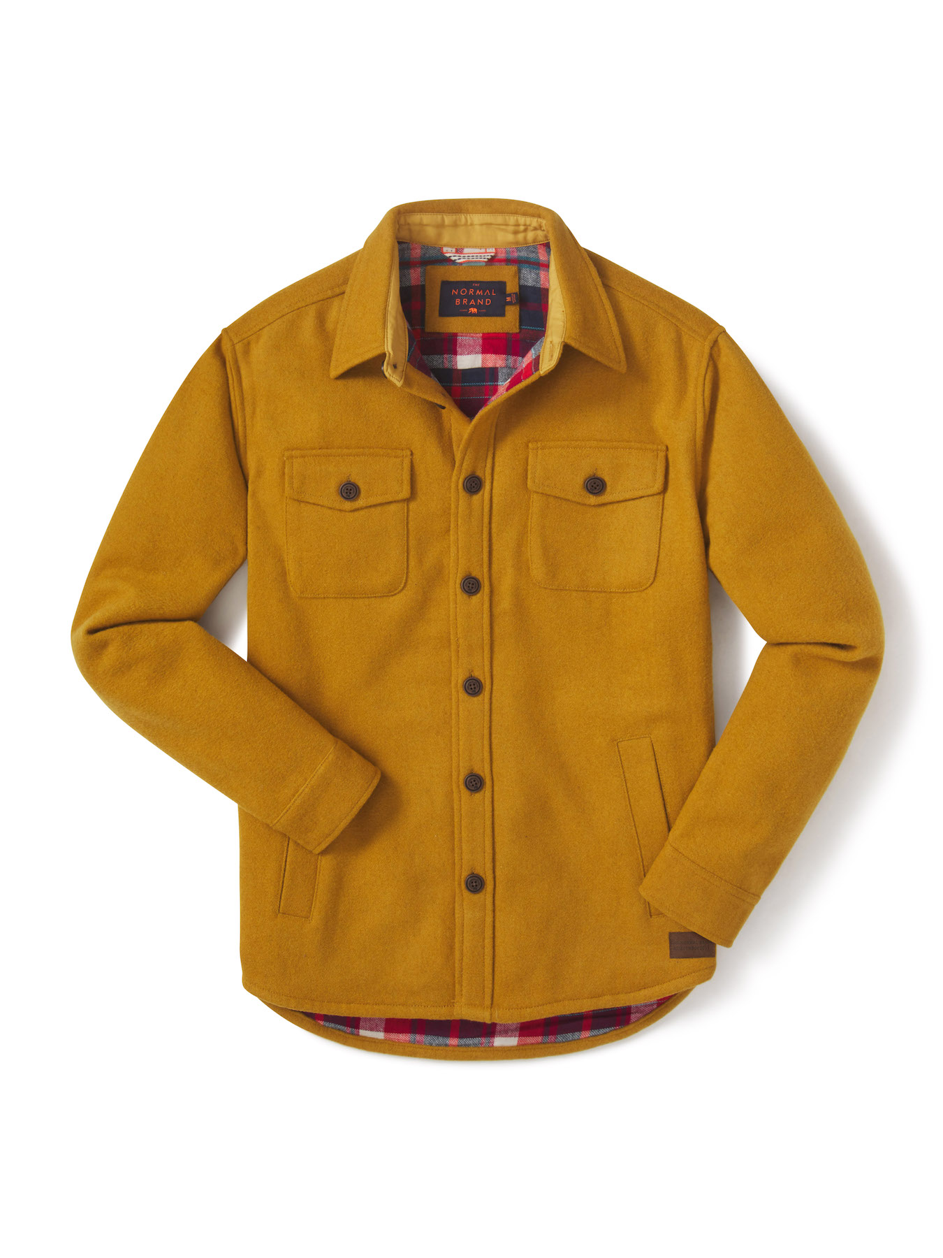 The-Normal-Brand-Table-Flat-Lay-Damion-Lloyd-Photography-Commercial-Product-Laydown-Apparel-Clothing-Los-Angeles-Orange-County-yellow-jacket