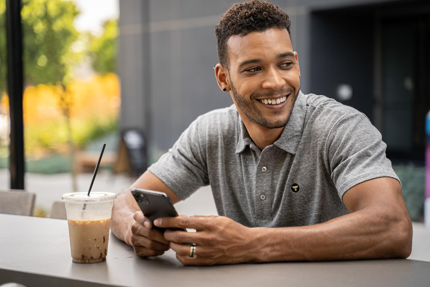 Lifestyle-On-Location-Model-Onmodel-Damion-Lloyd-Photography-Commercial-Product-Apparel-Clothing-Los-Angeles-Orange-County-female-male-The-Yellow-Life-coffee-phone-polo-shirt