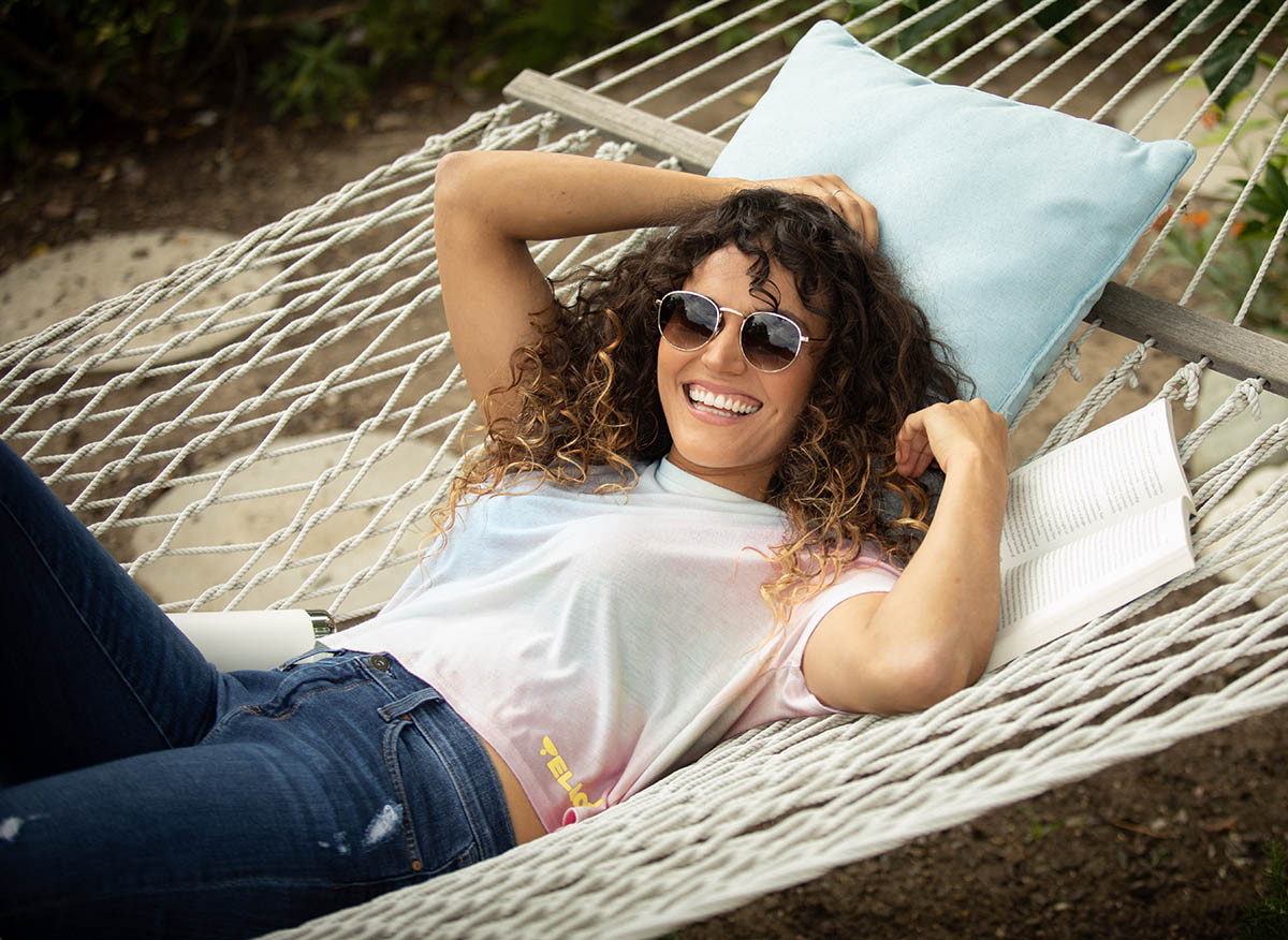 Lifestyle-On-Location-Model-Onmodel-Damion-Lloyd-Photography-Commercial-Product-Apparel-Clothing-Los-Angeles-Orange-County-female-male-man-woman-The-Yellow-Life-Tie-Dye-Shirt-Hammock-Book-Smile