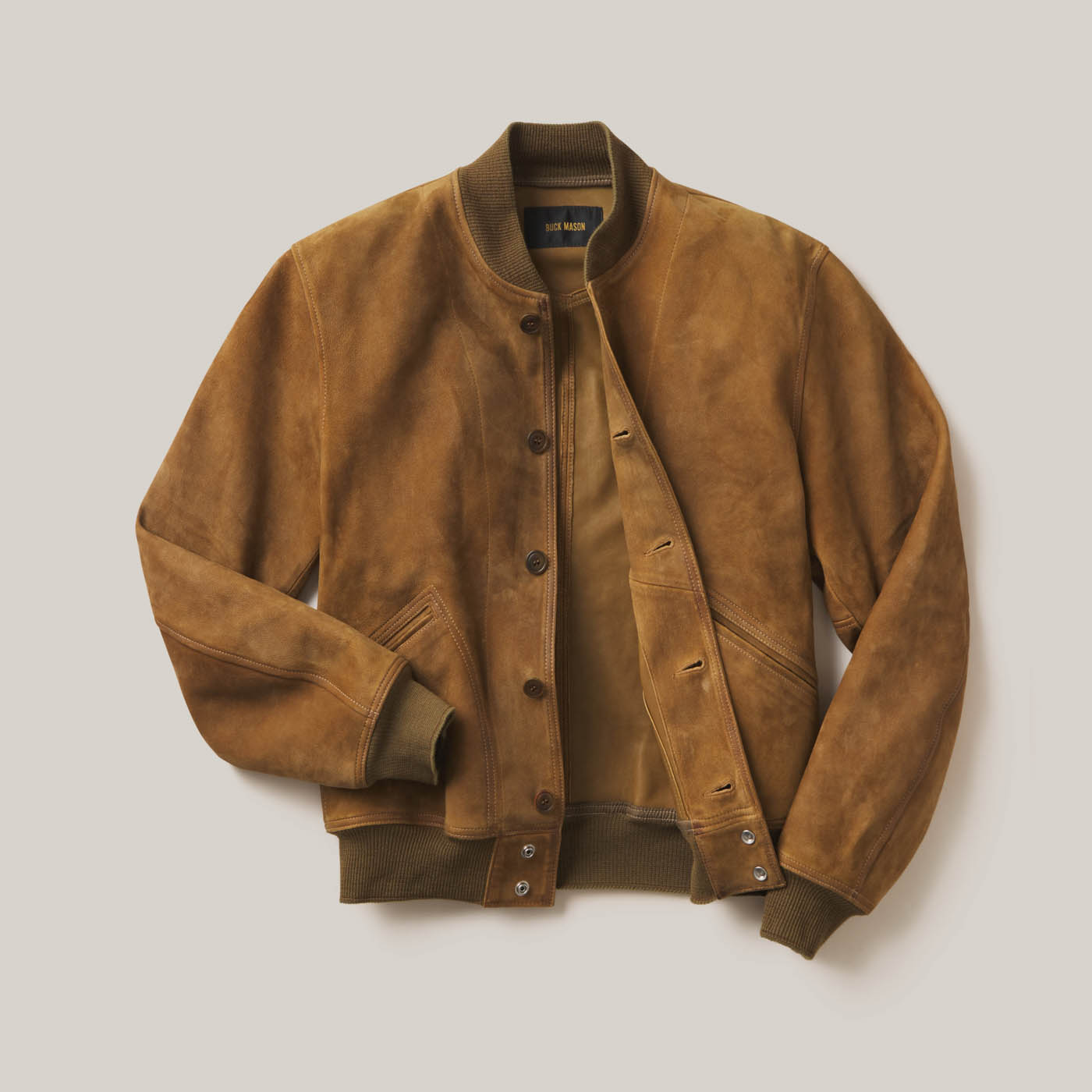 buck-mason-damion-lloyd-commercial-photography-product-clothing-editorial-overhead-pants-shirt-jacket-suede-brown