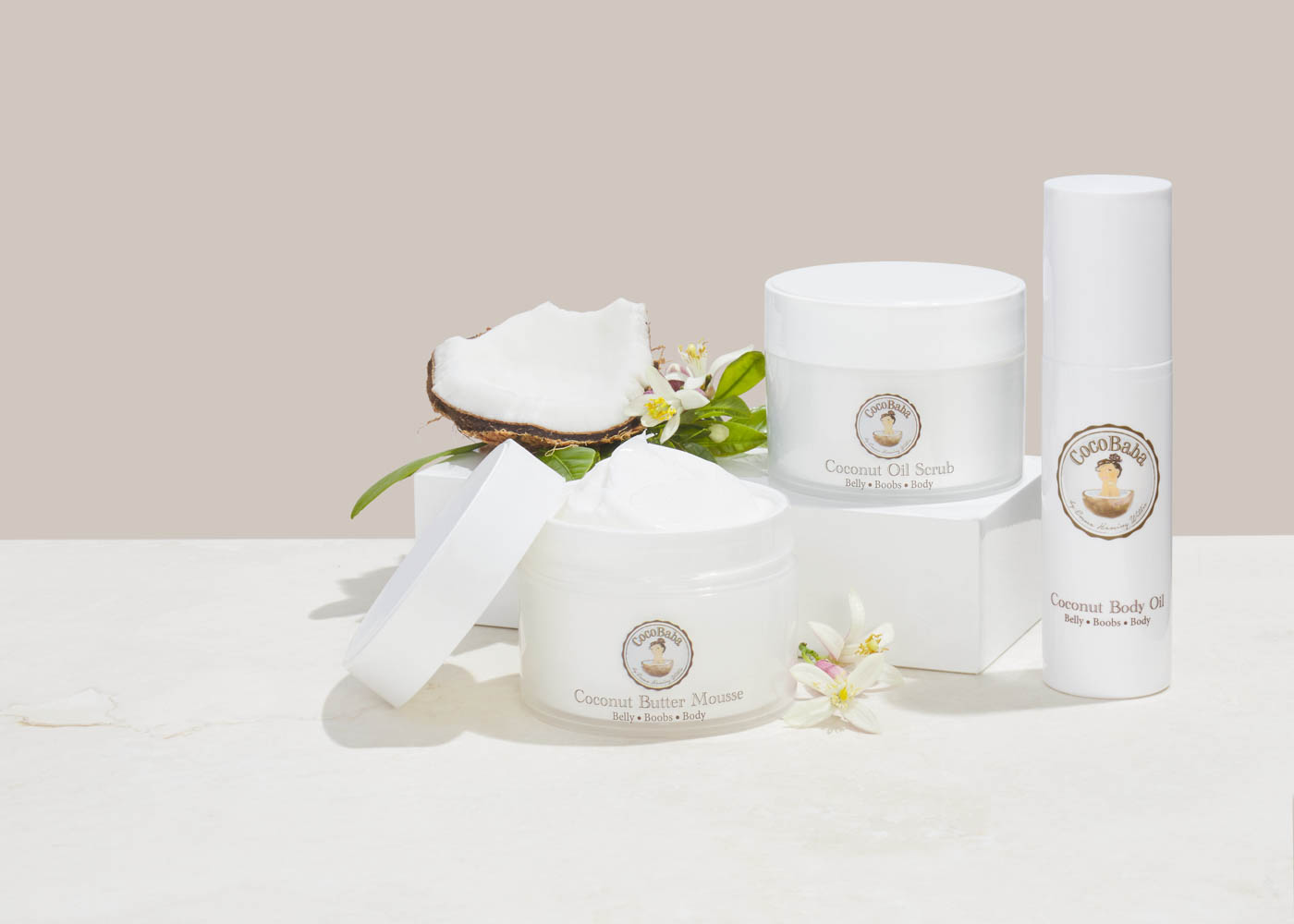 coco-baba-cocobaba-coconut-beauty-product-commercial-photography-damion-lloyd-group-shot